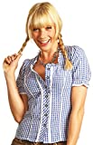 Trachtenbluse Daniela Blau kariert Gr. 48 - Schöne Karo Trachten Bluse für Damen