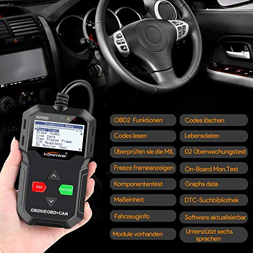 OBD2 Scanner , OBD 2 Reader Classic Enhanced Universal Cable Car Engine Fault Code Scanner obd diagnostic tool For all OBDII Protocol Cars