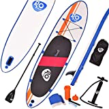 COSTWAY Paddelboard Sup Board Surfboard Stand up Board Set Paddelbrett 300 x 76 x 15cm aufblasbar