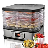 Bvivoa Food Dehydrator Fruit-Meat Dryer with Temperature Control, 5 Stackable Trays, BPA-Free