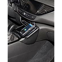 Kuda–Consola de teléfono para (LHD) para Opel Insignia a partir de 2017–Montaje Inferior–Piel Negro)