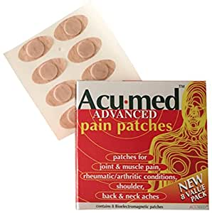 Acumed Pain Relief Patches - Effective For Back, Neck, Knee & Arthritic Pain with Magnetic Therapy (10 packs of 8)