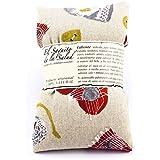 Saco Térmico de Semillas aroma Lavanda, Azahar o Romero tejido Gris Corazones Rojos (Azahar, 50 cm)
