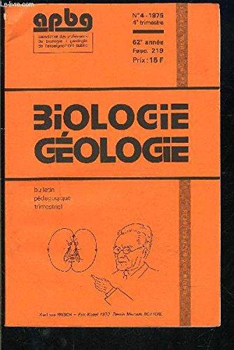 Geologie biologie, cours oria 1re D