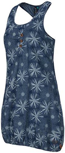 alife & kickin Cameron Dress Kleid, Dark Denim, XL - Floral Print Sommer Kleid