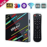 TV Box Android 8.1, 4 G 64 G ROM Linstar H96 MAX+ Smart TV Box Quad - Core 64 - bit Cortex - A 53 Bluetooth 4.1 2.4 G / 5 G Dual WiFi / H.265 / 100 M DLNA / 4 K 3D Smart TV Box