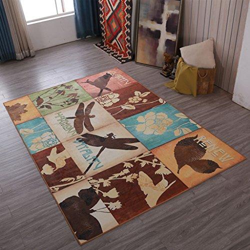 SESO UK Klassische europäische Retro Teppichkunst Rutschfester großer Teppich für Wohnzimmerschlafzimmer (größe : 120X160cm)