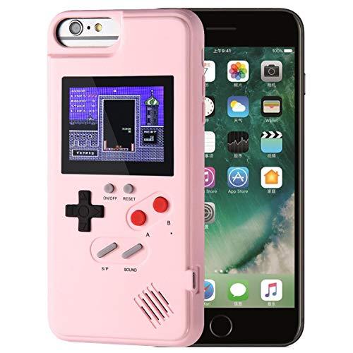 AOLVO Gameboy Hülle Für iPhone, Retro 3D Schutzhülle Case Mit 36 Kleinen Spielen, Vollfarbdisplay, Stoßfest Videospiel Hülle Für iPhone X/XS/MAX/XR, iPhone 8/8 Plus, iPhone 7/7 Plus, iPhone 6/6Plus