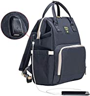 SUNVENO Diaper Bag   Backpack Large Capacity Baby Bags   Multifunction   Travel Backpack   USB   Mom and Dad  