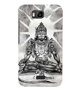 PrintVisa Lord Sri Hanuman BalaJi 3D Hard Polycarbonate Designer Back Case Cover for Huawei Honor Bee :: Huawei Honor Bee Y5c
