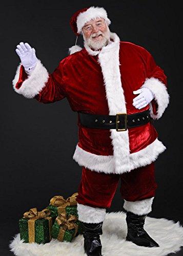 Deluxe Plüsch Santa Kostüm - Adult Mens Deluxe Plüsch Santa Anzug