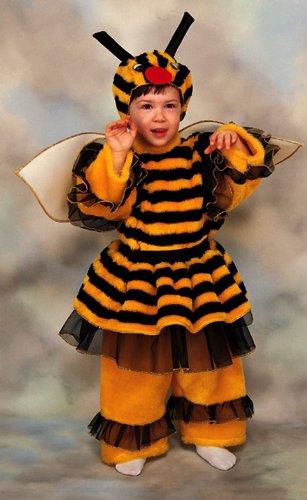 Costume in peluche vestito travestimento abito maschera carnevale neonato ape - apina - taglia 6/12 mesi