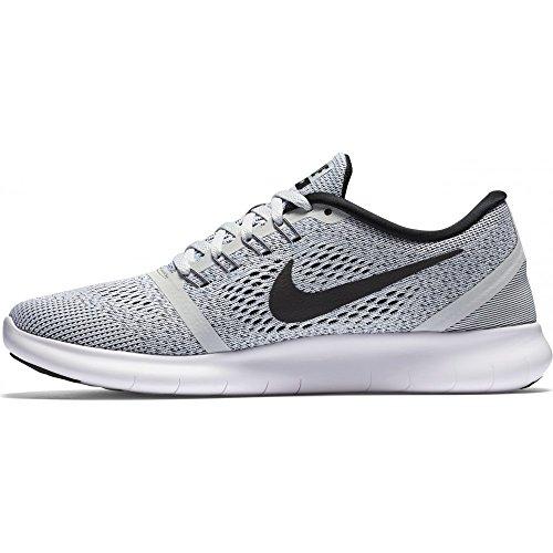 Nike Free Run, Chaussures de Running Entrainement femme Blanco (White/Black Pure Platinum)