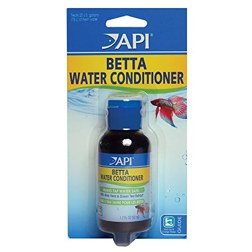 API Betta Acondicionador de Agua Betta Peces Agua Dulce Acuario Agua Acondicionado 1.7-Ounce Botella
