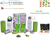 DIWALI PACK-1 Green tea bottle + 1 Sportz Green tea bottle with bottom infuser and filter (Brand : SWASH)