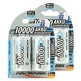 ANSMANN Mono D Akku Typ 10000 hochkapazitive Profi NiMH Monozelle