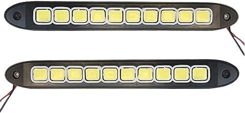 Auto Hub 12V DRL LED Daytime Running Lights Fog Headlight - Pack of Two