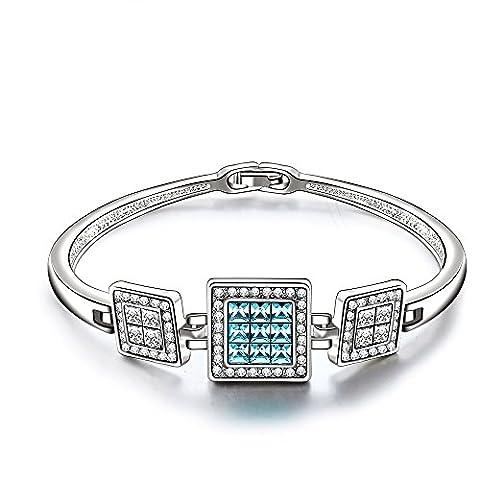 City Ouna® Cadeaux femmes Tennis plaqué Bracelet en or blanc