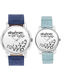 BigOwl Couple Watches For Men And Women - BigOwl Multicolor Dial Couple Combo Watch For Men And Women   Valentines...