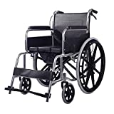 Wheelchair Manual with A Toilet,Lightweight Mobility with Brakes Height Adjustable Footrests for Elderly Disabled Users for Independence