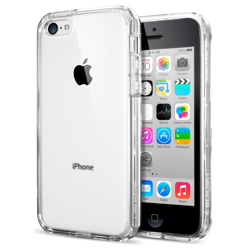 Coque iPhone 5C, Spigen [ ULTRA TRANSPARENTE SILICONE EN GEL TPU SOUPLE ] Coque Originale Spigen Housse Etui Anti-choc pour iPhone 5C (SGP10675)