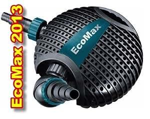 Die neue ECOMAX 10.000 Teichpumpe -Version 2014- für Bachläufe, Wasserfälle, Fontänen, Filter, etc. Schmutzpartikel bis 6mm