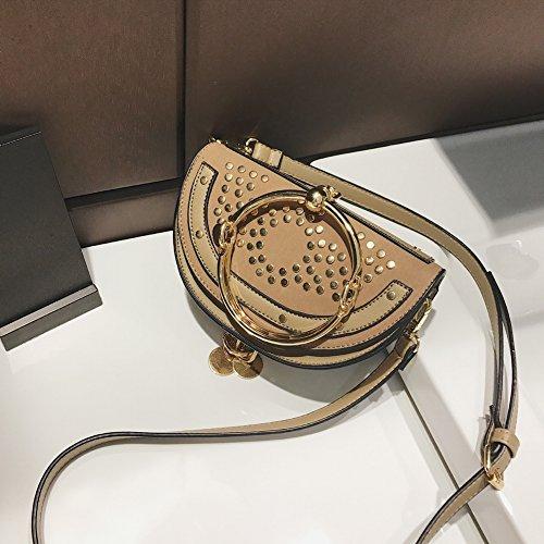 Preisvergleich Produktbild Handtaschen Mode Knödel Tasche Ring Handtasche Nieten Personalisierte Verpackung , Maya Grey