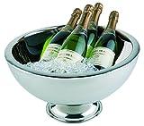 APS Edelstahl Champagnerkühler doppelwandig, Durchmesser ca. 44 cm, Höhe 24 cm, Inhalt: 10,5 Liter