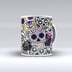 Para desayuno regalo original diseño estampado sticker bomb calaveras mexicanas