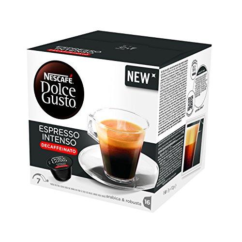Nescafé Dolce Gusto - Espresso Intenso Descafeinado - 3 Paquetes de 16 Cápsulas - Total: 48 Cápsulas