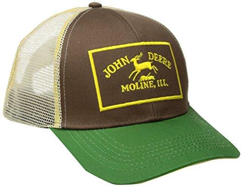 John Deere Herren Twill und Mesh Cap Stickerei - Grün - Einheitsgröße - Kappe-Ärmel-mesh-cap