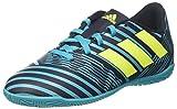 adidas Unisex-Kinder Nemeziz 17.4 in Fußballschuhe, Weiß (Footwear White/Solar Yellow/Core Black), 36 EU