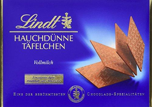 Lindt & Sprüngli Hauchdünne Täfelchen Vollmilch, 2er Pack (2 x 125 g)