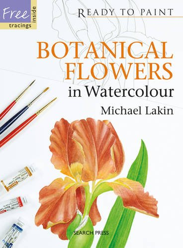 Botanical Flowers in Watercolour (Ready to Paint)