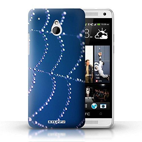 Kobalt® Imprimé Etui / Coque pour HTC One/1 Mini / Turquoise conception / Série Toile d'araignée Perles Bleu