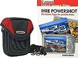 Progallio Foto-Tasche ADVENTURE X-TREME POCKET schwarz-rot plus Fotobuch Canon Powershot für Canon