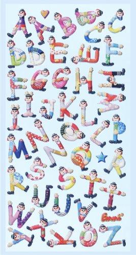 Creapop Sticker Softysticker * Clown Buchstaben - Karneval - Fasching * Aufkleber