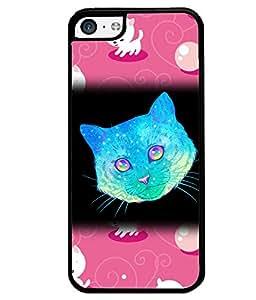 Fuson 2D Printed Cat Designer back case cover for Apple iPhone 5C - D4523