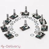 AZDelivery ⭐⭐⭐⭐⭐ 10 x KY-040 Drehwinkelgeber Drehgeber Rotary Encoder Modul für Arduino