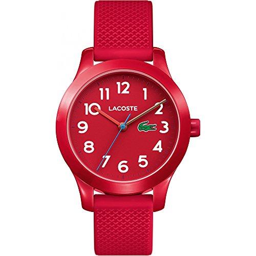Lacoste Unisex-Kinder Datum klassisch Quarz Uhr mit Silikon Armband 2030004