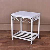 Preisvergleich für Metall Nachttisch Side End Table Wohnzimmer MöBel, Nachttisch Schlafzimmer Nachttisch Tisch Lagerung Regale, Schrank Im Wohnzimmer, Schlafzimmer, Studie, Etc.