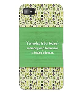 PrintDhaba Quote D-5722 Back Case Cover for BLACKBERRY Z10 (Multi-Coloured)