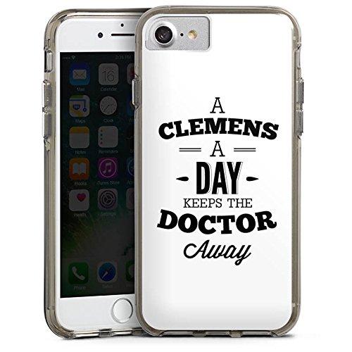 Apple iPhone X Silikon Hülle Case Schutzhülle Clemens Alive Fanartikel Merchandise Youtube Bumper Case transparent grau