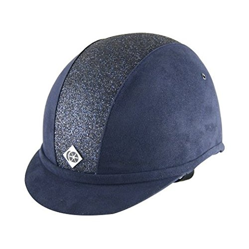Charles Owen YR8 Sparkly Riding Hat 6 7/8 Navy/Navy Sparkle