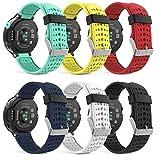 MoKo Armband für Garmin Forerunner 235 / 220 / 230 / 620 / 630 / 735 - Silikon Ersatz-Uhrenarmband Uhrenarmband Einstellbar Armband Replacement Wechselarmband watch band für Forerunner 235 WHR Laufuhr, Mehrfarbig