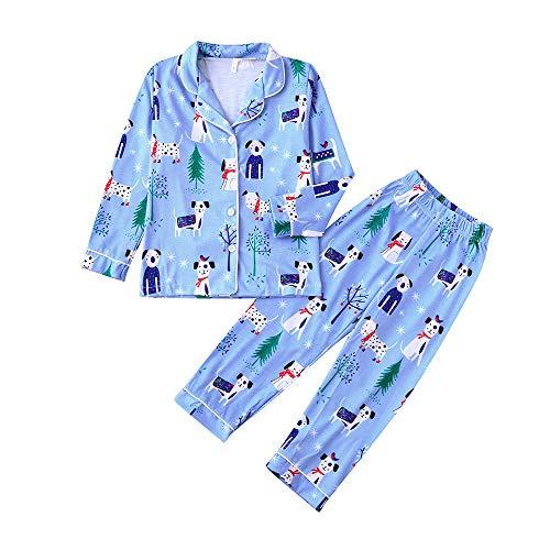 Italily Uomo Bambini Famiglia Natale Cervo Pigiama Pantaloni Impostato Natale Biancheria da Notte Nightwear Costume Natalizio Casual Mini Abito Moda Top Camicetta Pants