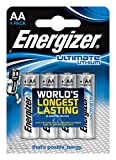 Energizer ENLITHIUMAAP4 Ultimate Lithium AA Mignon FR6 Batterie 1,5V 1500 mAh (4 St.)