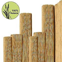 Pflanzen-Versand Sichtschutz Schilfmatte Schilfrohrmatte L/ärmschutz Windschutz Strohmatte 120 x 600cm