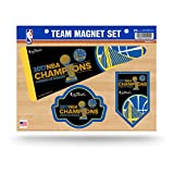NBA Golden State Warriors 2017 Basketball Champions Team Magnet-Set, klein, Royal Blau, Gold