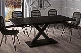 Esstisch Mila ausziehbar 130cm - 180cm Wenge Küchentisch Design bi colour Säulentisch
